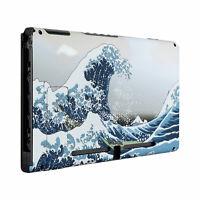 Soft Touch The Great Wave Back Plate Housing Shell for Nintendo Switch Console