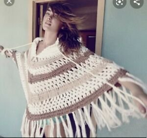 SPELL wool blend Vagabond boho poncho jumper