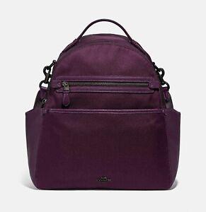 💚 COACH 99290 Nylon Baby Backpack Diaper Travel Bag Boysenberry Purple $395 NWT
