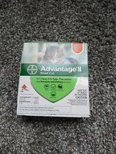 4 Doses BAYER ADVANTAGE II FLEA CONTROL FOR CATS 5 - 9 LBS -  made in Germany