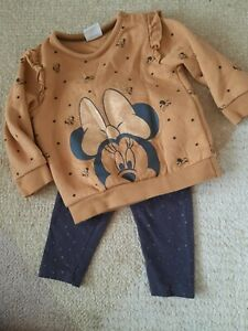 Disney Baby Girl Outfit - Minnie Mouse Sweater/Leggings - 3-6 Months