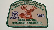 1999 Ministry of Natural Resources Deer Hunter Patch