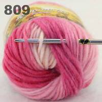 Sale 50g NEW Knitting Yarn Chunky Hand Colorful Wool Soft Warm Scarves Shawls 09