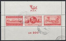 ROMANIA :1944 Postal Employees Relief Fund Min Sheet SGMS1629 fine used