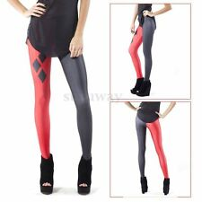 Casual Women's Stretch Harley Quinn Skinny Leggings Tight Pencil Pants Trousers