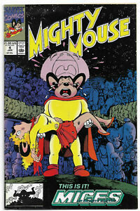MIGHTY MOUSE#4 VF 1991 'CRISIS' HOMAGE COVER MARVEL COMICS
