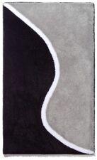 Badteppich LEANDRA schwarz 70x120 cm Badematte Badezimmerteppich Badgarnitur Bad