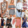 Summer Women Bodycon Jumpsuit Playsuit Shorts Romper Beach Holiday Sun Dress Lot
