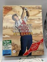"Jack Nicklaus Unlimited Golf & Course Design IBM 1990 ver 1.5 Release 5.25"" Disk"