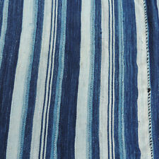 old 63 x 37 inch 160cm x 94cm  hand woven indigo african textile ghana #5