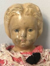 Rare Antique Papier Mache 16� Doll by Ludwig Greiner Pat No 2 1872 Blonde Hair