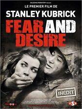 Affiche 40x60cm FEAR AND DESIRE 1954 Stanley Kubrick, Silvera R2012 NEUVE