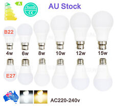 AU stock E27 B22 Bayonet Screw LED Bulb Energy Saving Globe Bulb 4W6W8W10W12W15W