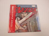 SAXON SAME Promo P-10889G with OBI  Japan VINYL  LP