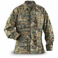 Tru-Spec USMC MARINE CORP Jacket Blouse Shirt Fatigue WOODLAND MARPAT MEDIUM