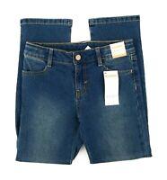 Gymboree Boys Jeans Size 7 Adjustable Waist Straight Leg Dark Wash Blue New