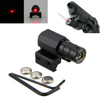 Tactical Red Dot Laser Sight 11/20mm Rail Mount For Air Gun Rifle Pistol Scope