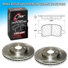 CK0003 Fits: Toyota Corolla Front L+R Brake Rotors & Premium Ceramic Pad Set