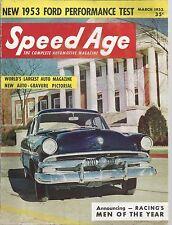 1953 Speed Age Magazine March Issue