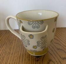 Creative Co-op Ceramic Tea Cup With Tea Bag Holder