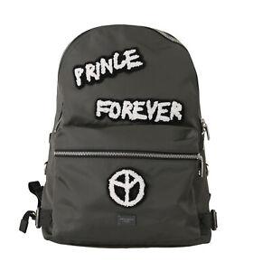 DOLCE & GABBANA Bag Gray Prince Forever Laptop School Backpack Mens RRP $1600
