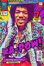 Jimi Hendrix Comic Book Covers Art Print (Available In 4 Formats)