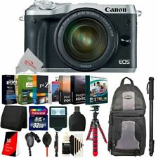 Canon EOS M6 Mirrorless Camera Silver with 18-150mm + Essential Accessory Kit