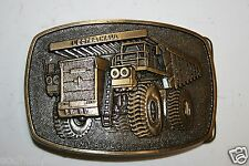 Vintage Unit Rig Lectra Haul Belt Buckle Worlds Best Earth Movers Rare