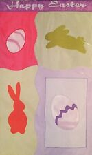 HAPPY EASTER BUNNY RABBIT EGG APPLIQUE LARGE YARD FLAG NEW