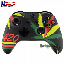Weed Soft Touch Grip Faceplate Upper Case Shell for Xbox One S One X Controller