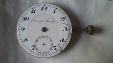 Cronometre Escasany Movement Pocket Watch 40Mm For Repair Or Parts Swiss