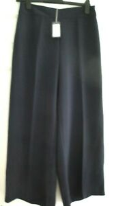 LAURA ASHLEY BNWT TROUSERS NAVY BLUE SIZE 10 RP £70 SMART LADIES