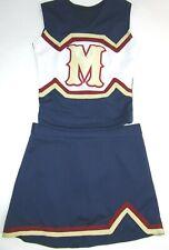 "NEW Cheerleader Uniform Outfit Halloween Costume Fun 32"" Top 28"" Skirt Large M"
