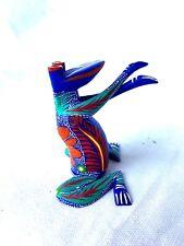 Frog Alebrije Hand Painted Oaxacan Wood Carving Oaxaca Mexico