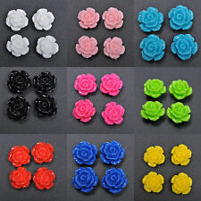 Wholesale Gorgeous Rose Flower Coral Resin Spacer Beads 10mm/12mm/15mm U Pick