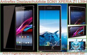 2x Anti reflex Fingerabdruck glare Display Schutz Folie Sony Xperia Z1 L39H matt