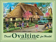 More details for ovaltine advert large steel sign   400mm x 300mm (og)