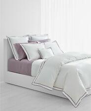 Ralph Lauren Spencer Cotton Border 300TC Full/Queen Duvet Cover White/Lavender