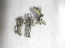 NORTH AMERICAN WILDLIFE ANIMAL 3D MOOSE CANADIAN MOOSE PEWTER PENDANT NECKLACE