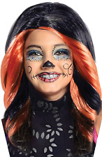 Girls Official Skelita Monster High Halloween Fancy Dress Costume Outfit Wig