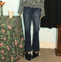 AMERICAN EAGLE OUTFITTERS - JEANS Blue Denim - High Rise Stretch Flare - Women 8