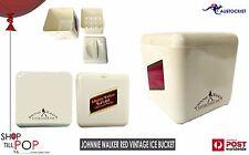 """Johnnie Walker RED Label  Vintage 1970's Ice Bucket 7"""" Cream EX' Cond Made in UK"""