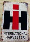 "International Harvester IH Distressed Aluminum Metal Sign 12"" x 18"""