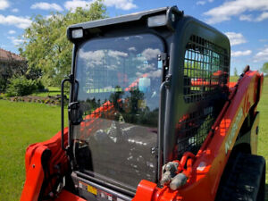 "Kubota SVL 75-2 1/2"" Lexan Forestry door. Fits 90 92  and 95-2 as well."