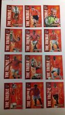 FUTERA  Set of 12 Official  Manchester United THE TREBLE SEASON Football Cards