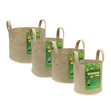 VIVOSUN 5 Packs Tan Fabric Plant Pots Grow Bags w/ Handles 3,5,7,10,15,30 Gallon