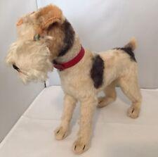"""Vintage Steiff Foxy Fox Terrier - 1950's Mohair - 10"""""""