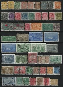 CANADA - EARLY YEARS USED STAMPS LOT #2