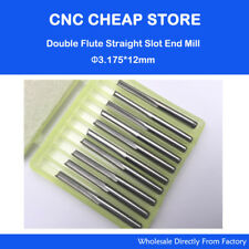10× Double Flute Straight Slot Endmill Milling Cutter Cnc Router Bits 3.175 12mm