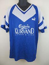Vtg PUMA 90s Football #12 Shirt Retro Soccer Jersey Blue Trikot Skjorte XL